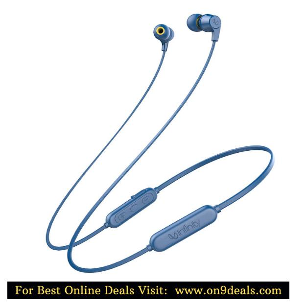Infinity (JBL) Glide 100 Wireless in-Ear Dual EQ Deep Bass IPX5 Sweatproof Headphones with Mic