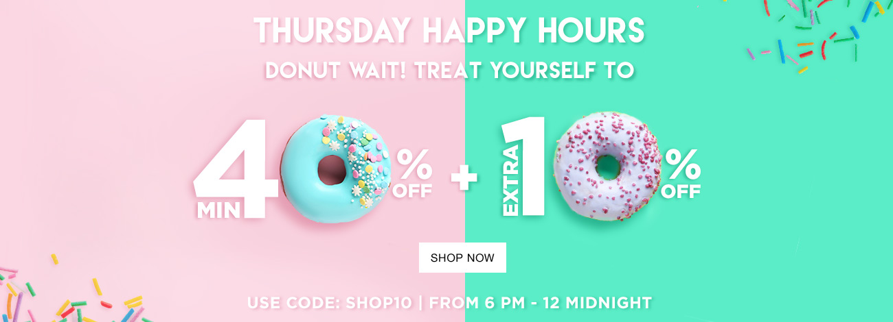 Jabong - Happy Hours Sale Minimum 40% Off + 10% Extra Discount