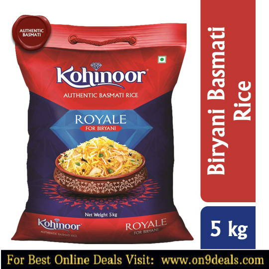 Kohinoor Royale Authentic Biryani Basmati Rice, 5 Kg