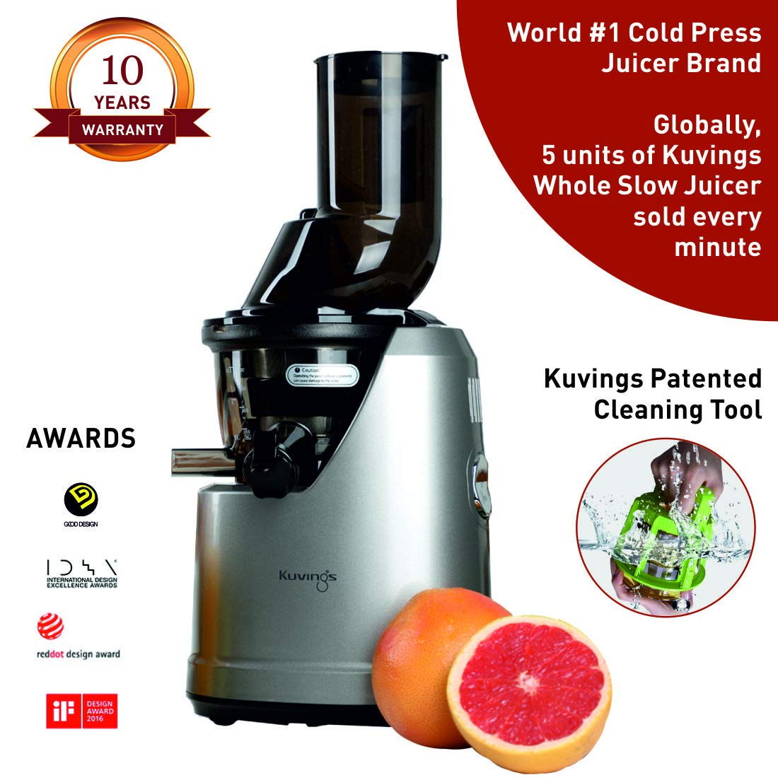 Kuvings Professional Cold Press Whole Slow Juicer B1700