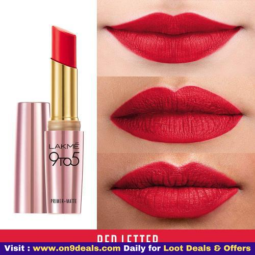 Lakme 9 to 5 Primer with Matte Lip Color Many Variant Available @ Rs. 299 Worth Rs. 500