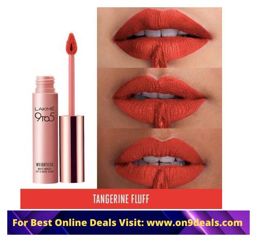 Lakme 9 to 5 Weightless Mousse Lip and Cheek Color, Crimson Silk, 9g