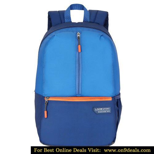 Lavie Sport 24 Ltrs Navy Blue Casual Backpack