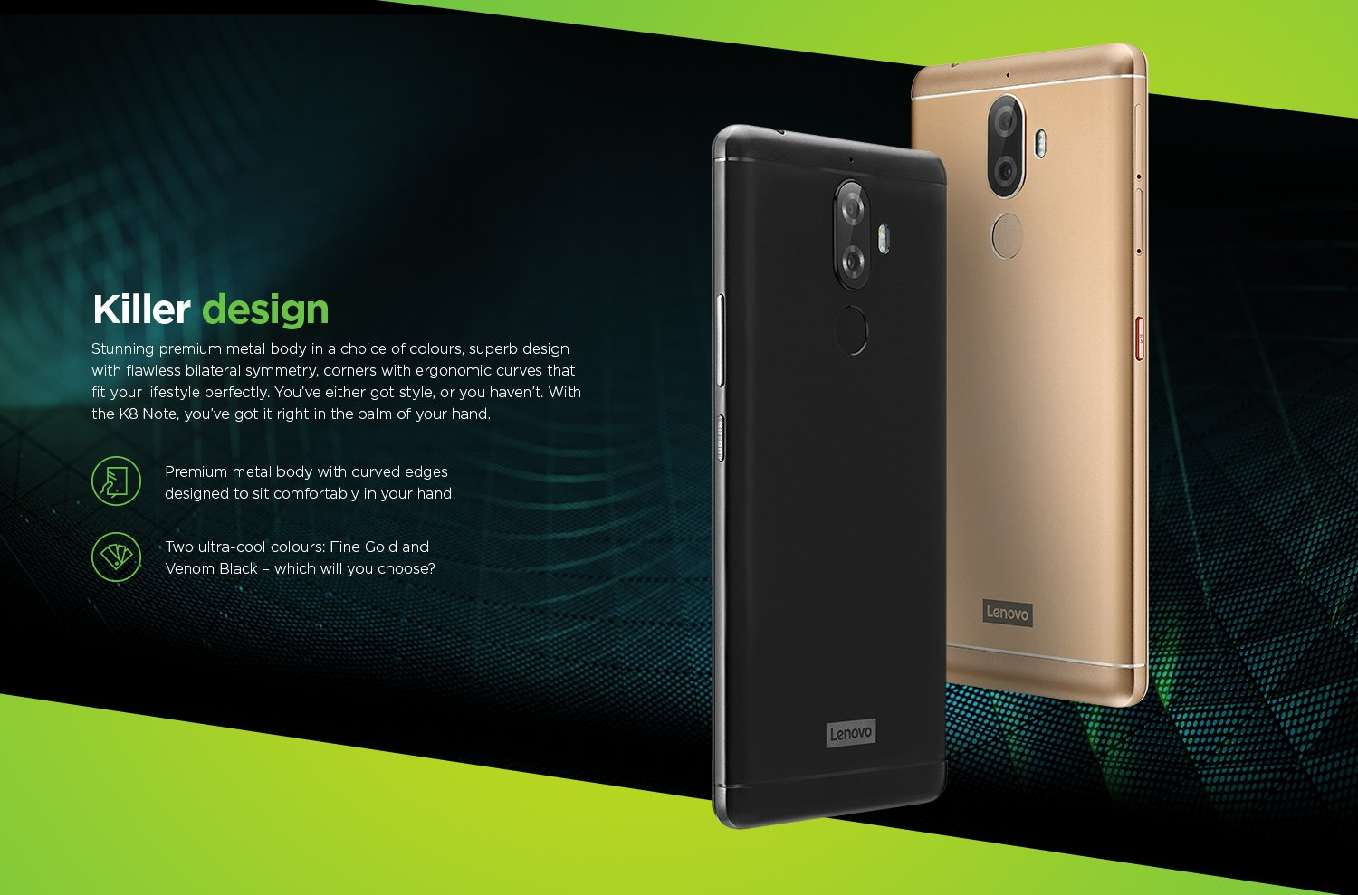 Lenovo K8 Note Dual Camera 4GB Ram 64GB Inbuilt