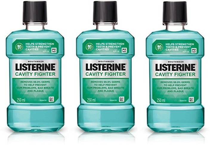 Listerine Mouthwash Combo - Cavity Fighter  (750 ml)