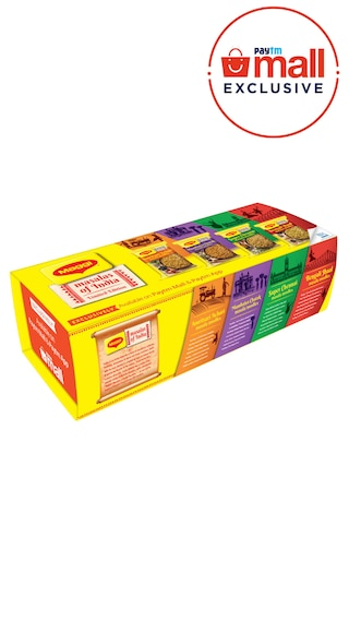 MAGGI Masalas Of India Noodle Box,12 Packets Of 73g Each, 4 Flavors Of New Variants, 3 Units Of Each Flavor