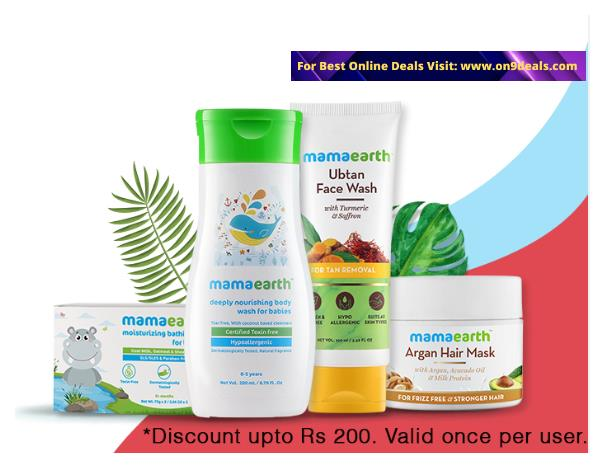Mamaearth - Wow Wednesday OFFER - FLAT Rs.250 Cashback on Orders Above 599