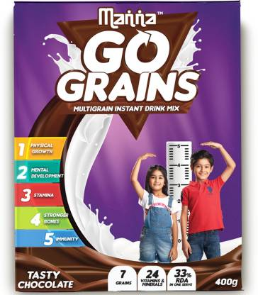 Manna Go Grains Nutrition Drink  (400 g, Chocolate Flavored)