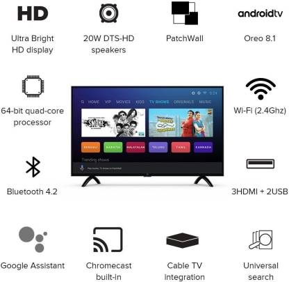Mi LED Smart TV 4A PRO 32 Inches with Android
