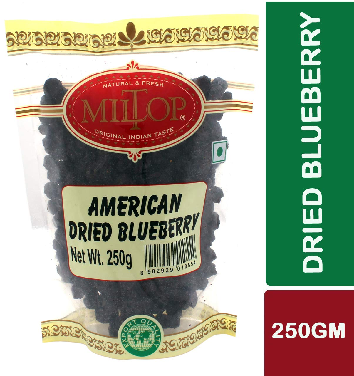 Miltop American Dried Blueberries, 250g