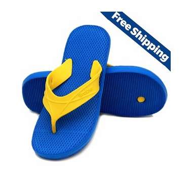 Nexa Brother Blue and Yellow Flip Flops