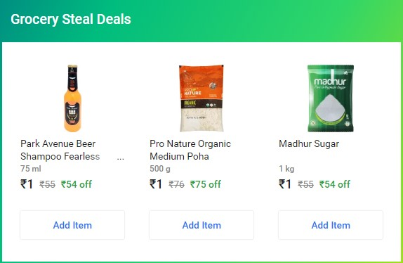 Order Anything From Flipkart SuperMarket Of Rs.200 Or More & Get Products of Rs.186 Only For Rs.3