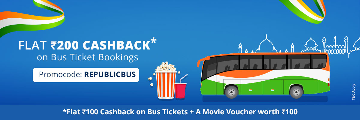 Paytm - Book your Bus Tickets & Get Rs.100 Cashback +Rs.100 Movie Voucher
