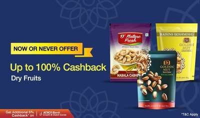 Paytm Flash Sale Upto 100% Cashback