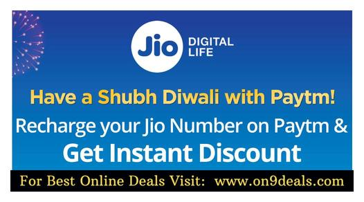 Paytm Rs.44 Discount On Recharge Rs.444 & Rs.50 Discount On Rs.555 Jio Recharge