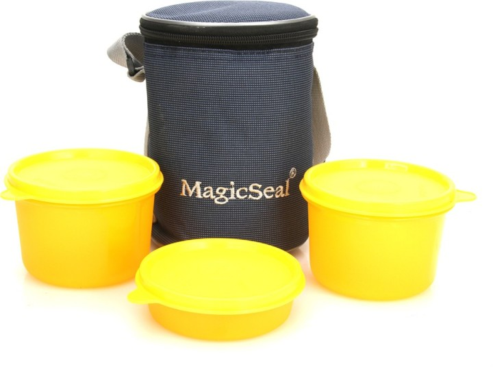 Polyset Magic SeaL - Delux 3 Containers Lunch Box (620 ml)