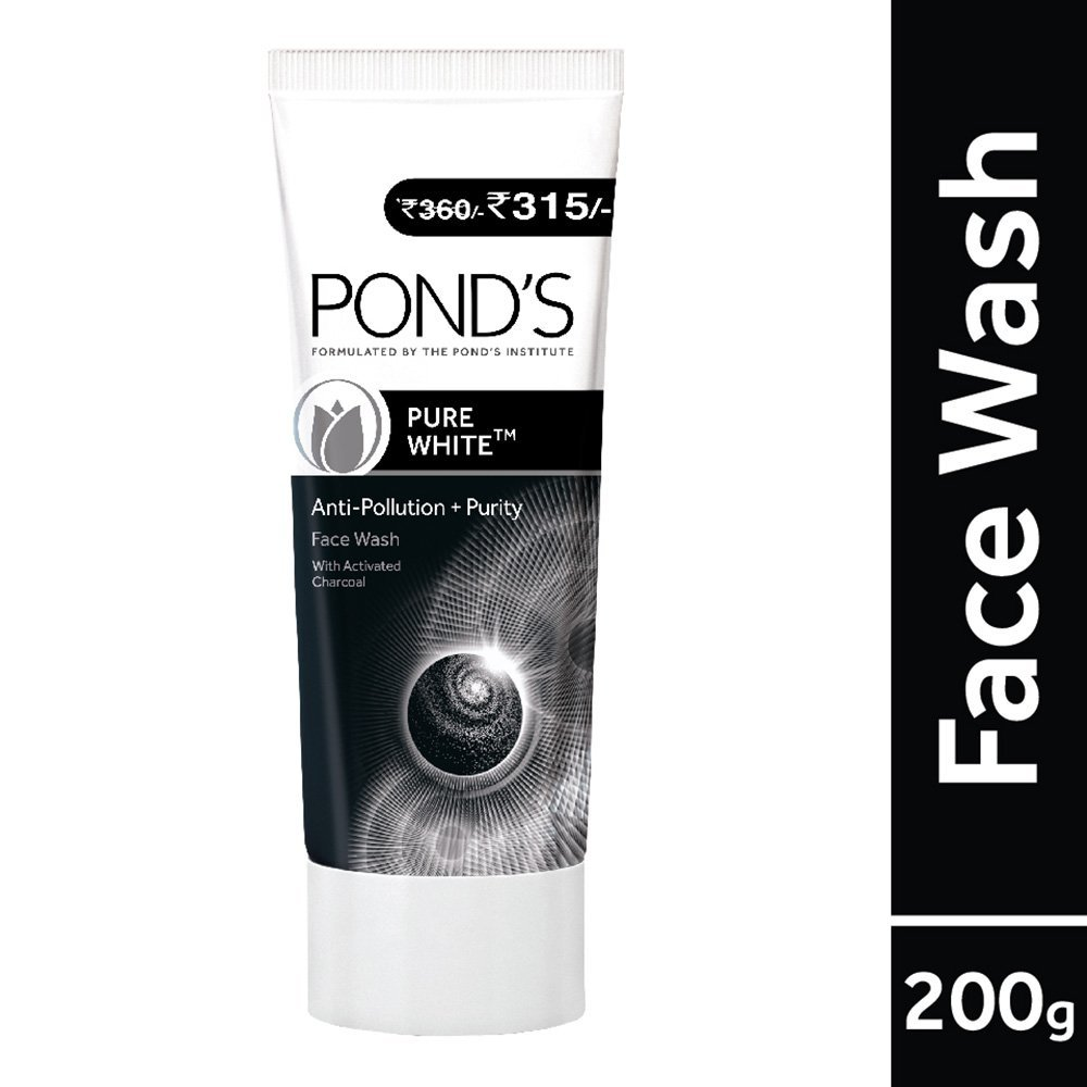 Pond's Pure White Anti Pollution With Activated Charcoal Facewash, 200g