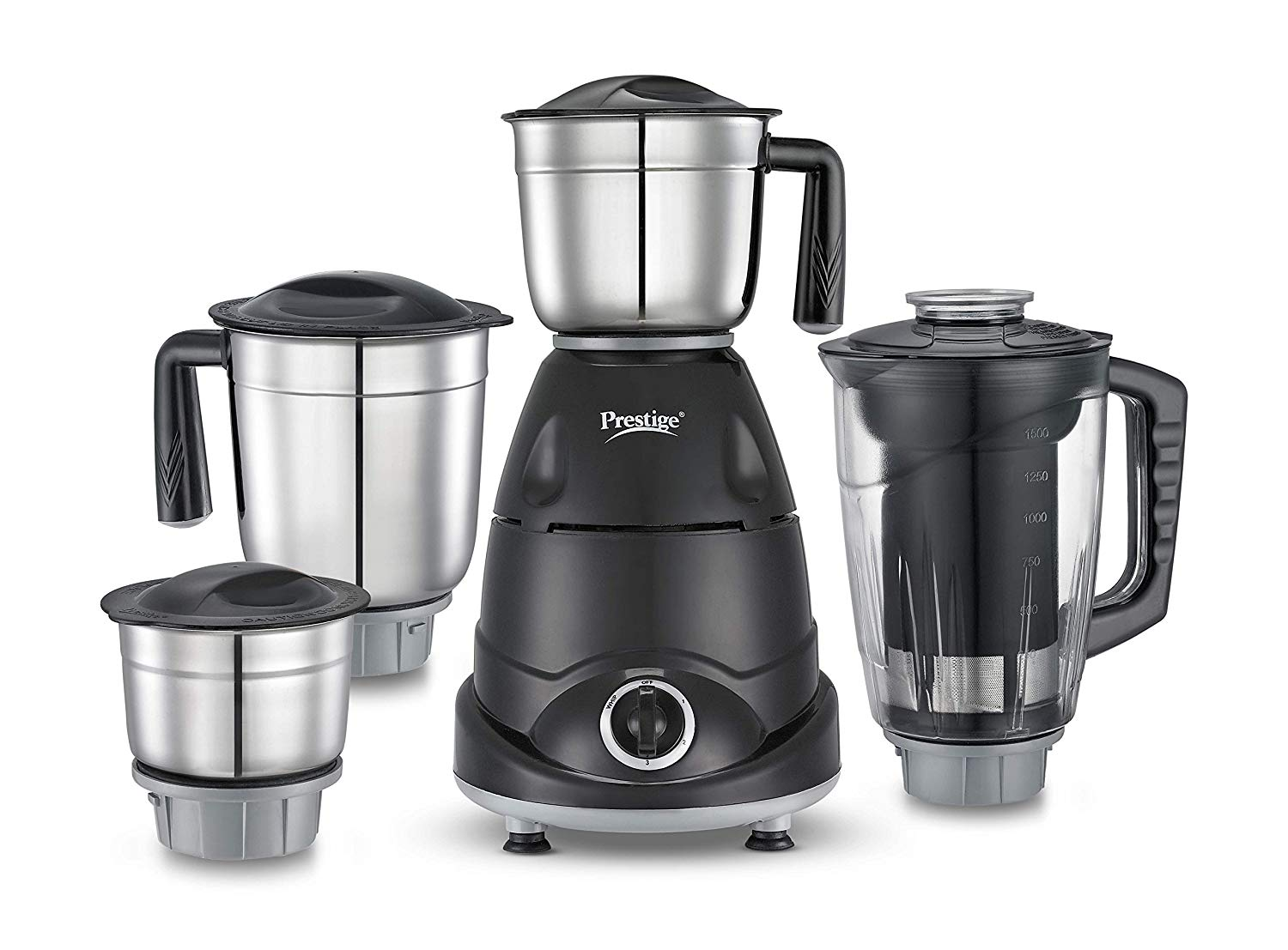 Prestige Storm Stainless Steel 750 Watts Mixer Grinder with 4 Jars