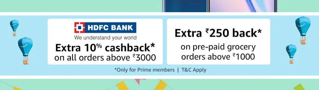 Prime Now App - Flat Rs.250 Cashback on Order Above Rs.1000 ( Prime Members Only )
