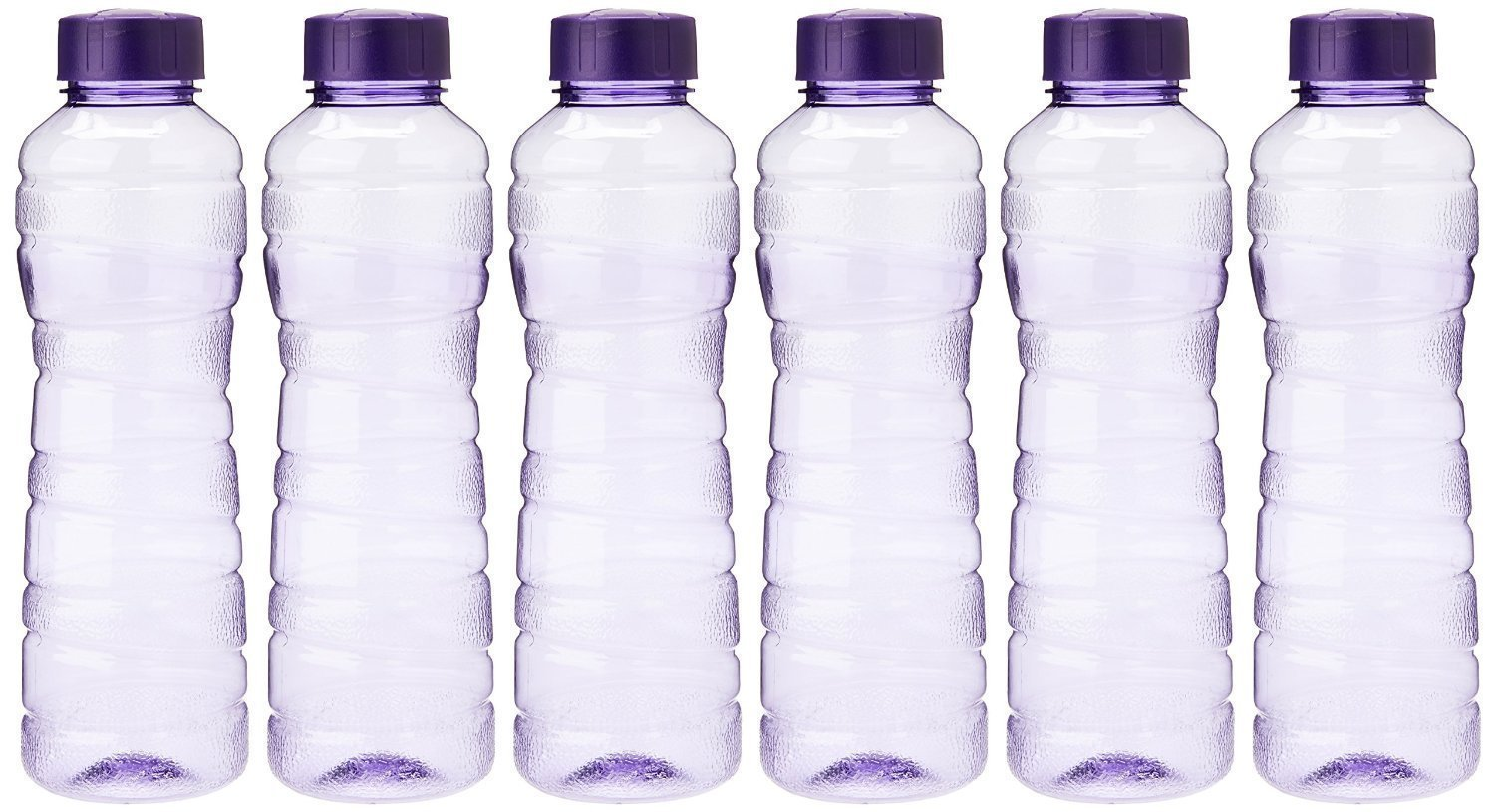 Princeware Victoria PET Fridge Bottle, 975 ml, Set of 6
