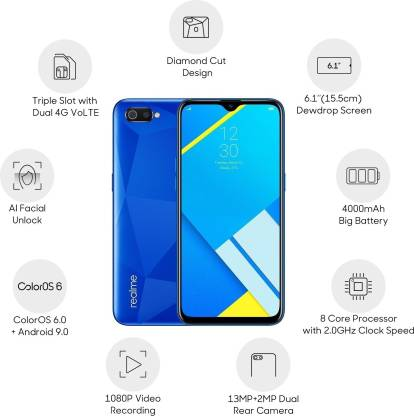Realme C2 2GB Ram 32GB Storage @ Rs.5399 (HDFC & CITI Bank Users) or Rs.5999