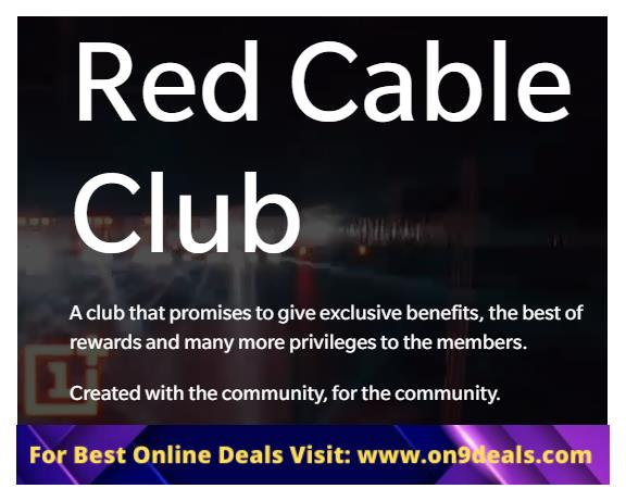 Red Cable Club Exclusive Offer Only For OnePlus Users