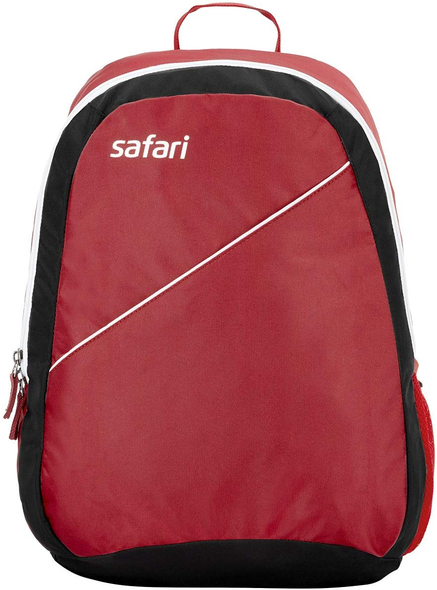 Safari Red Casual Backpack With 18 months International Warranty