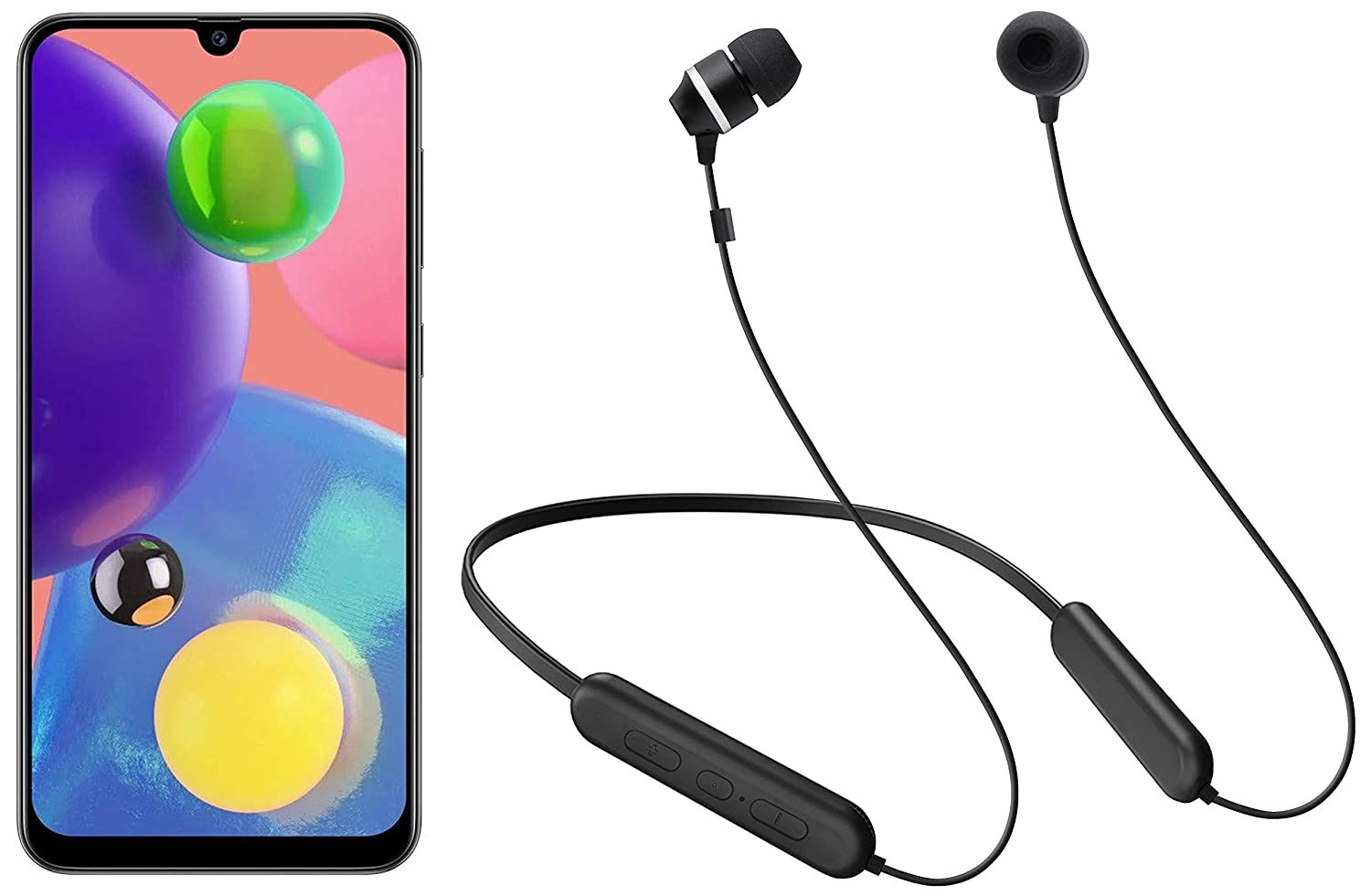 Samsung A70s 8GB RAM + Samsung Wireless Earphone with Flexible Neck Band