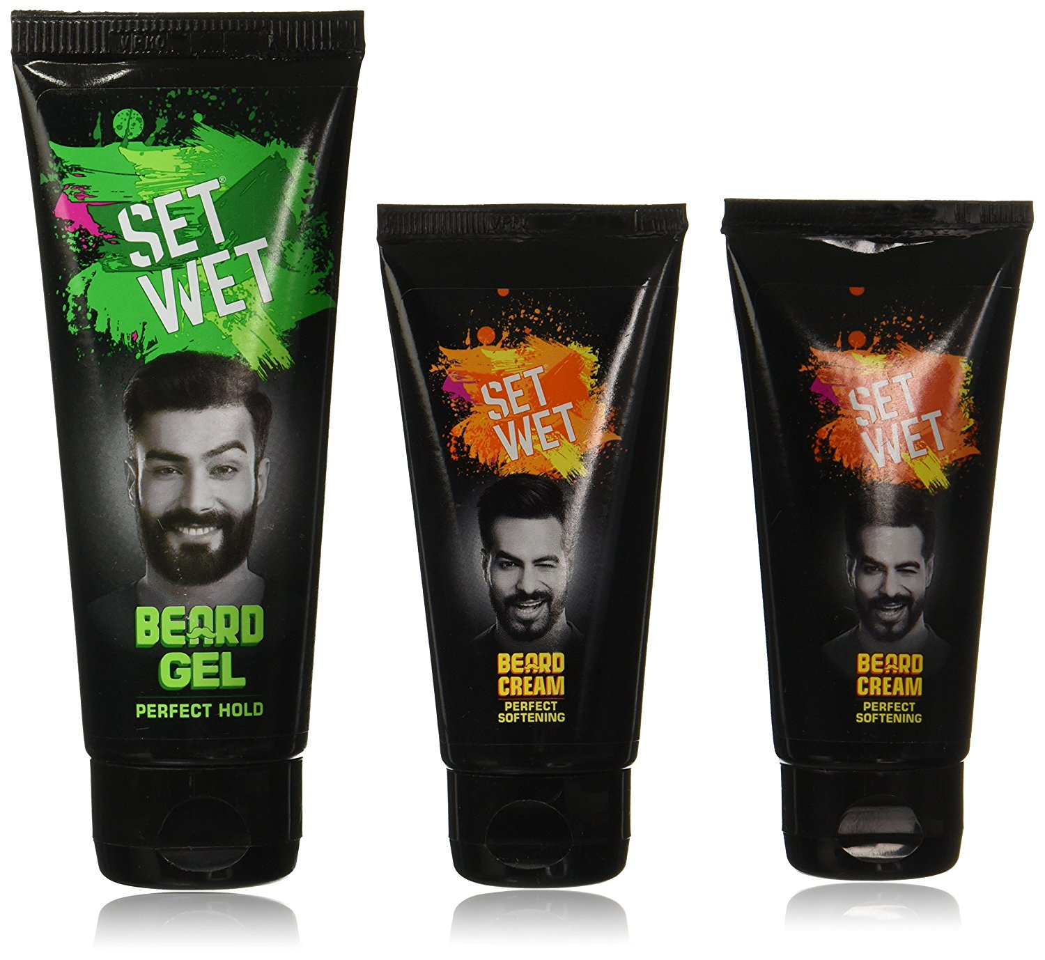 Set Wet Beard Styling Cream, 50ml (Pack of 2) with Set Wet Beard Styling Gel, 100ml