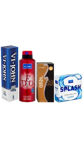 Shaving Cream 125 GM & ASL Splash & VI-JOHN Deo Energetic + Cobra Perfume 15ml