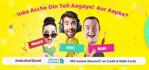 Shopclues - 6th Anniversary Ache Din Sale Sale  Upto 66% Discount + Wallet & Bank Offers