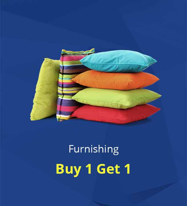 Shopclues - Furnishing Sale Online Buy 1 Get 1 Free + Upto 50% Cashback With Mobikwik
