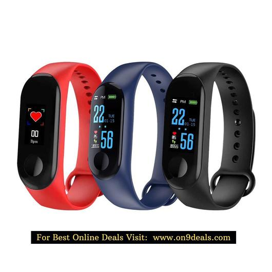 Smart Bracelet Fitness Tracker Heart Rate Blood Pressure Monitor Waterproof Sports