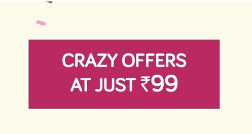 Snapdeal - Crazy Offers Sale All Products @ Rs.99