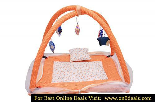 Tender Care Baby Kick and Play Gym with Mosquito Net and Baby Bedding Set