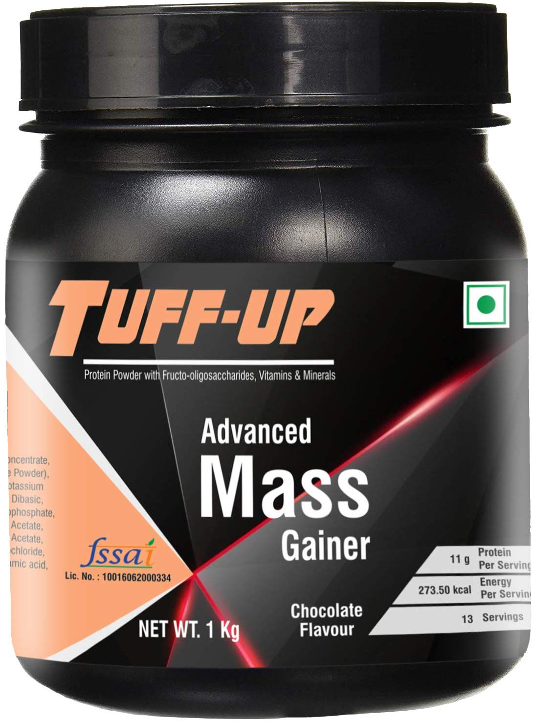 Tuff Up Advanced Mass Gainer - 1 kg/2.2 lbs (Chocolate)