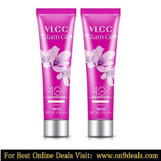 VLCC 2 Glam Glo 10 in 1 Skin Perfector Ivory Tinted Spf 30 PA+++ 30g each  (60 g)