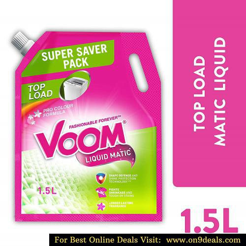 Voom Matic Top Load Liquid Detergent Pouch, 1.5 L