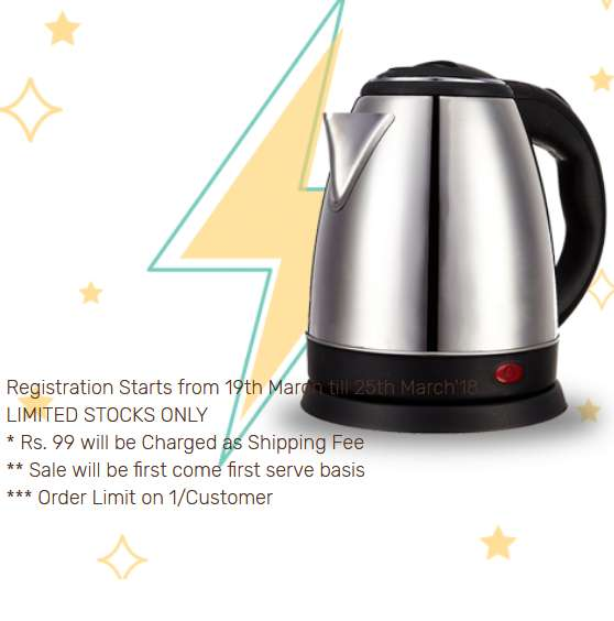 Zotezo Flash Sale Electric Kettle Only For Re.1